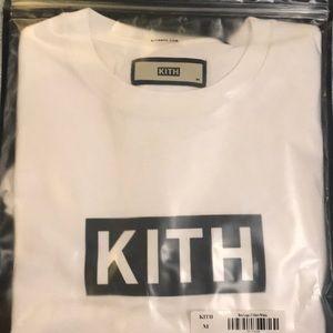 KITH Men's Short Sleeve White with Black Box Logo